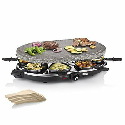 Oval Stone Raclette Grill, 1200w Electric with Adjustable Thermostat for a Party