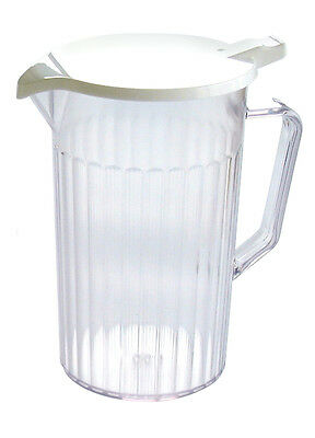 Plastic Pitcher Jug with Lid Lined 0.9 L Juice Water Cocktail Ice Pimms