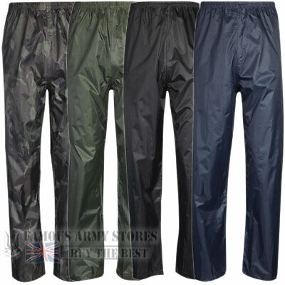 Mens Womens Breathable Waterproof Rain Over Trousers Bottoms Hiking Walking Fish