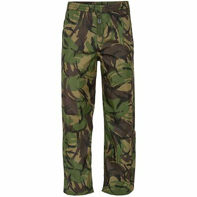 Mens Breathable Waterproof Camouflage Rain Over Trousers Fishing Hiking Walking