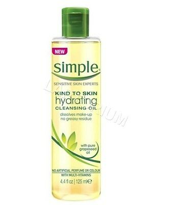 Simple Kind To Skin Hydrating Cleansing Oil Natural Make-Up Remover 125 ml