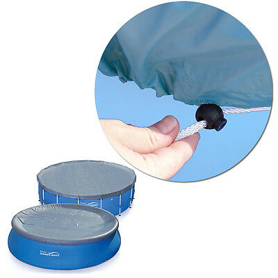 Summer Waves Swimming Pool Cover Round 12 -14 ft. Ring or Metal Frame Accessory