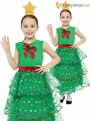 Girls Christmas Tree Costume Childs Xmas Fancy Dress Kids Novelty Outfit  sc 1 st  PicClick UK & GIRLS CHRISTMAS TREE Costume Childs Toddler Xmas Fancy Dress Kids ...