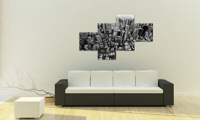 NEW YORK S/W BILDER SET 4 TEILE SKY VIEW M41028 Design DRUCK AUF LEINWAND