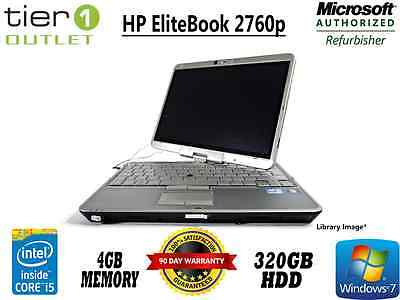 HP EliteBook 2760p - 2nd Gen i5 2.60GHz, 4GB RAM 320GB HDD - Windows7 Pro Laptop