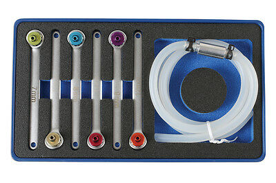 New Release Brake Clutch Bleeding Tool Set Wrench Set Colour Coded 7Mm - 12Mm