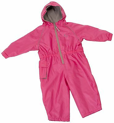 Hippychick Fleece Lined Waterproof All-in-One Suit - Pink 12-18 Months NEW