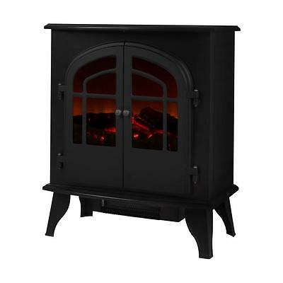Warmlite 2000W Electric Log Effect Stove Fire Matte Black WL46015