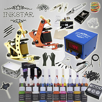 Complete Tattoo Kit Inkstar Journeyman and Case with Black, Color or No Ink