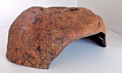 Reptile Shelter Cave Hide 32Cm X 18Cm X13Cm Natural Hard Wearing Kiln Fired Clay