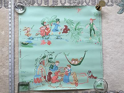 Peter Pan & Wendy 1953 Vintage Wallpaper By Child Life, Charming Disney Artifact