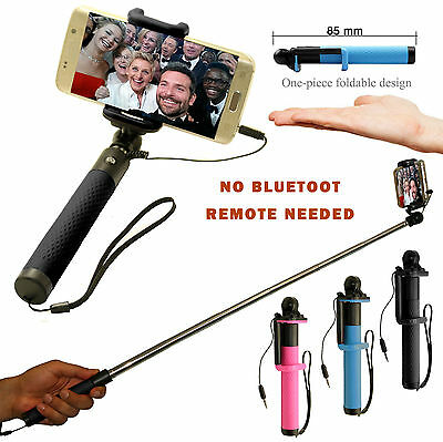 Monopod Selfie Stick Wired For Apple Iphones/Ipads And Andriod Phones And Lg