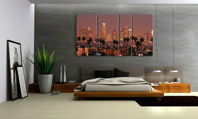 Towers & Palms Miami Xxl Bilderset 4 Teile D00748 Digital Art Leinwand Bespannt