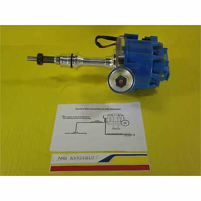 sbf ford 260 289 302 v8 coil hei distributor 50000 50k volt ford 289 302 small block cnc hei distributor w50k coil blue cap sbf 1