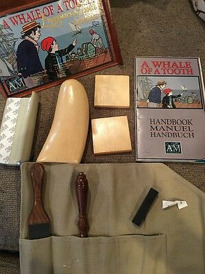 A Whale of a Tooth Vintage Scrimshaw Kit - Engrave a Tooth Authentic Model
