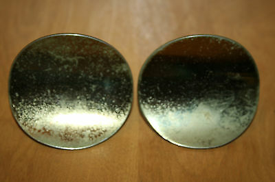 Set of 2 Large Vintage Drawer Pulls Knobs Handles Brass Mid Century 1960s
