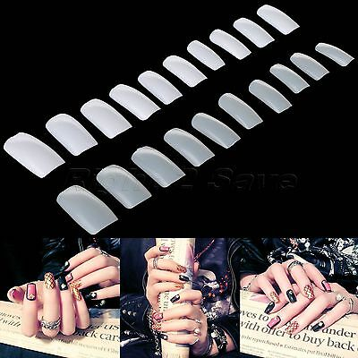 500pcs Nail Tip Salon Full Cover False Fake French Nail Art Beauty Short Natural