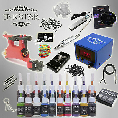 Complete Tattoo Kit by Inkstar Rotary with Black, Color, Professional or No Ink