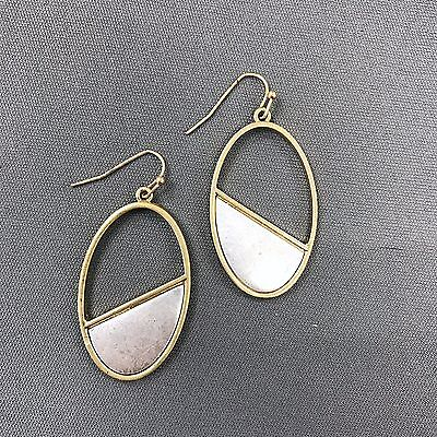 Antique Silver and Gold Bohemian Style Open Drop Dangle Trendy Earrings