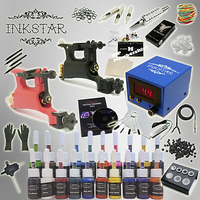 Complete Tattoo Kit Inkstar Rotary 2 with Black, Color, Professional or No Ink