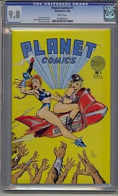 Planet Comics #1 Cgc 9.8 White Pages Dave Stevens Cover Blackthrone