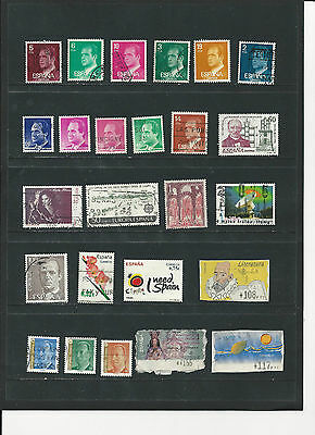 SPAIN -  SELECTION OF USED STAMPS - SPA2ab