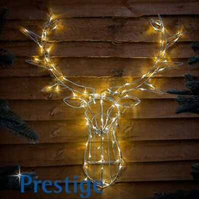 INDOOR / OUTDOOR LED Stag Head Wall Mounted Christmas Decoration Light HB