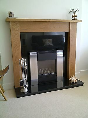 "Hand Made Solid Oak Fire Surround Mantelpiece ""Emley"" Ossett Oak []''''''[]"
