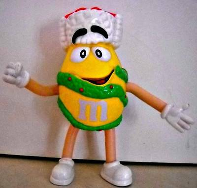 M&M's Christmas Holiday Yellow Peanut Bendable Character 2004
