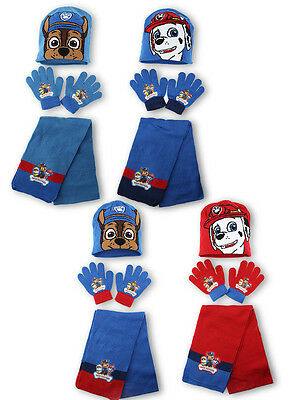 Boys Paw Patrol 3PC Hat Gloves & Scarf Set One Size From 3 to 10 Years 780-567
