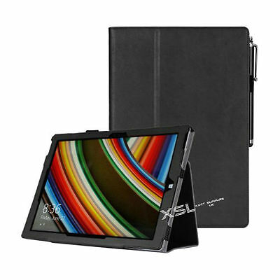 """Smart Case Cover & Screen Protector for 12"""" Microsoft Surface Pro 3 Tab BLACK"""