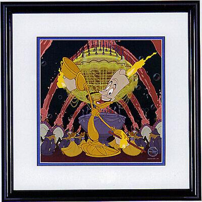 Beauty and the Beast Host with the Most Disney LE 3500 11x11 NEW Sericel Lumiere