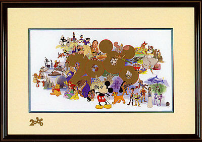 Welcoming A New Millennium Disney LE 2000 NEW Framed Sericel Mickey