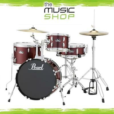 """Pearl Roadshow 18"""" Complete Gig Kit Drum Set with Cymbals & Hardware - Wine Red"""