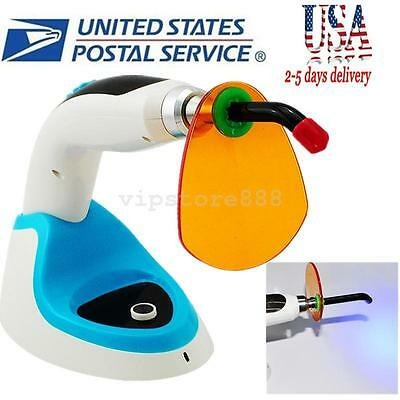 USA! 10W Wireless Cordless LED Dental Curing Light Lamp 2000MW+ Whitening BLUE