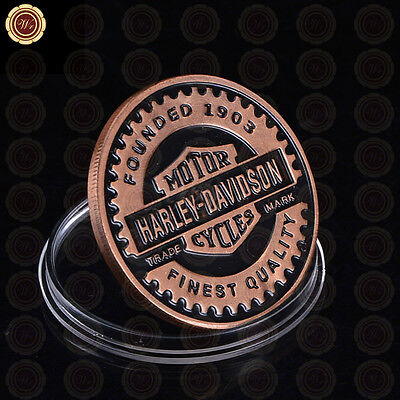 WR GIFT Copper Plated Commemorative Coin US COLOR 999.Coin Series Harley COIN