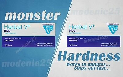Herbal Blue Sex Tabs STAY HARD Supplement 100% Original For Male Free P&P