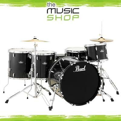 Pearl Roadshow 5 Piece Rock Plus Drum Kit with Cymbals & Hardware - Jet Black