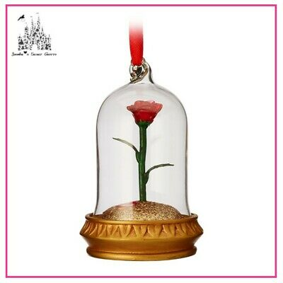 Disney 2017 Beauty And The Beast Enchanted Rose Light Up Sketchbook Ornament Nib