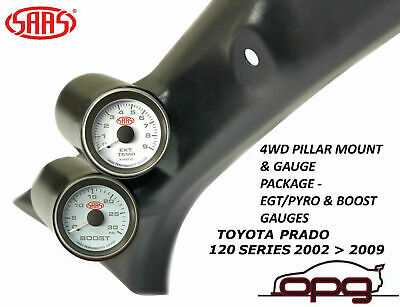 Saas Pillar Pod Gauge Pack Suits Toyota Prado 120 Series 02 > 09 Egt & Boost