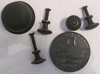 Antique PANATROPE 457 Lot Phonograph Knobs Vintage Cabinet Pulls Needle Cup *21A