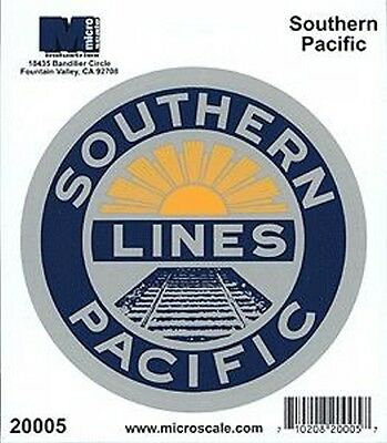 "Die-Cut Vinyl Stickers 4"" - Southern Pacific Model trains"