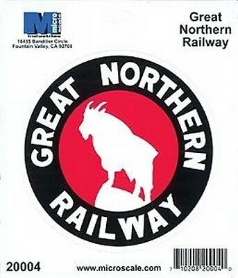 "Die-Cut Vinyl Stickers 4"" - Great Northern Model trains"