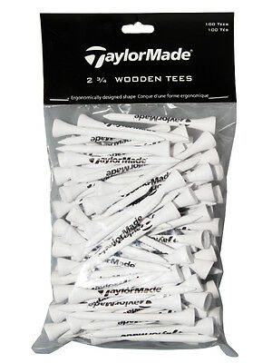 TaylorMade Wood Tees 100 Pack 2.75 Inch White