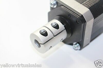 "6.35mm x 12.7mm 1/4"" x 1/2"" Rigid Shaft Coupler CNC Stepper Servo Motor Coupling"