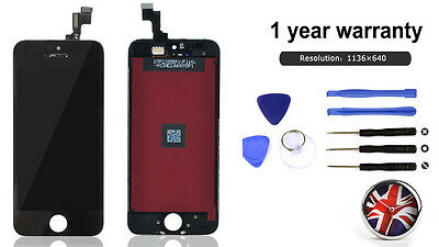 Black LCD for iPhone 5s Apple Touch Screen Digitizer Assembly Replacement New UK