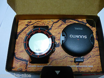 Suunto Men's Quest Watch, Heart Rate Belt and Mini Move Stick