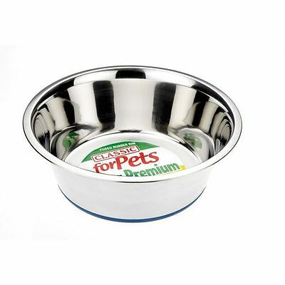 Non-Slip Steel Dish Food or Water Extra Large Dog Bowl 4000ml (4L)