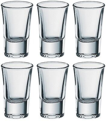 6x Borgonovo Junior Shot Vodka Glass 35ml Set Glassware Drink Bar Pub Party