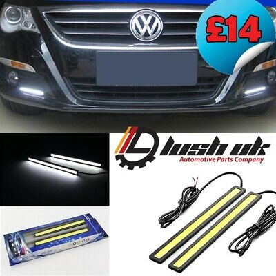 *14 Cm Cob Bar Drl Daytime Running Lights Universal 12V Waterproof Bumper Grille